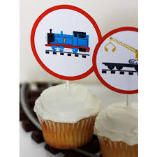 printable thomas and friends cupcake toppers build your own