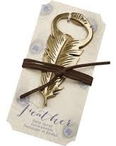 kate aspen deal on kate aspen gilded gold feather bottle opener