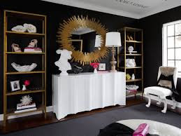 home design studio large sunburst mirror tour this amazing fashion blogger u0027s transitional home office