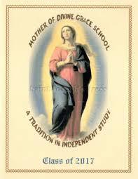 Cover Invitation Card Mother Of Divine Grace Graduation Invitation Card Sjp