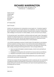 covering letter for job application examples of cover letters of