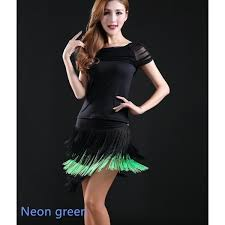 plus size royal blue neon green neon yellow black red fringes