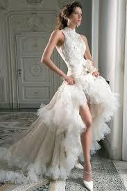 high to low wedding dress 5 sophisticated halter neck wedding dresses 14 wed flamenco