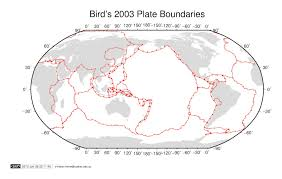 Map Of Tectonic Plates Plate Boundaries For Gmt5 U0027s Psxy Tectonicwaters