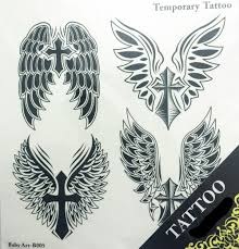 neck wing tattoos tattoo sticker picture more detailed picture about cross wing