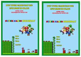 super mario birthday invitations u2013 birthday printable