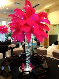 Feather And Flower Centerpieces by Crystal And Feather And Shade Centerpieces Waykool Events