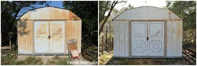 how to paint a rusty metal shed domestic imperfection