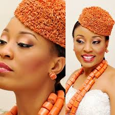 bella niger hair nkiru our bellanaijabride with her traditional beads and regal