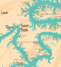 ozarks map lake of the ozarks mo map print with mile markers