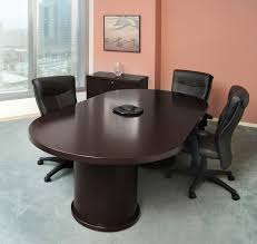 12 ft conference table wood veneer racetrack espresso conference table 6 12 foot direct