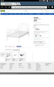 Ikea White Single Bed Used Ikea Minnen White Single Bed In Ts7 Cleveland For 8 00