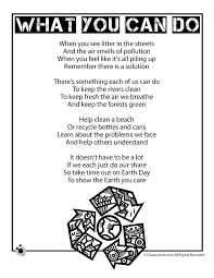 earth day kids poem what you can do 2017 pinterest earth