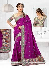 Buy Violet Embroidered Art Silk Buy Embroidered Manipuri Silk Designer Traditional Saree In Wine
