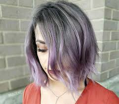 salt and pepper hair with lilac tips 50 lovely purple lavender hair colors purple hair dyeing tips