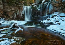 Park West Landscape by Overflow Blackwater Falls State Park West Virginia Michael