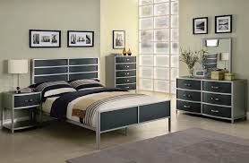 Wood And Iron Bedroom Furniture by Dewey 4 Piece Youth Metal Bedroom Set In Two Tone Finish By