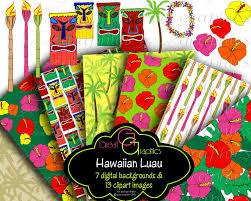 hawaiian luau party hawaiian luau digital paper luau party clip hawaii luau