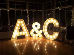 light up letters diy 2014 wedding trend lighted letters the yacht club at marina