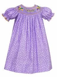 mardi gras baby clothes anavini velani smocked purple mardi gras bishop dress