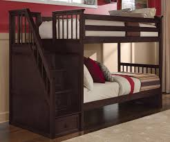 School House  Cherry Staircase Bunk Bed Bed Frames NE Kids - Stairs for bunk beds