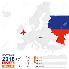 Slovakia Map Football 2016 Group B Table Group B Highlighted On Europe Map