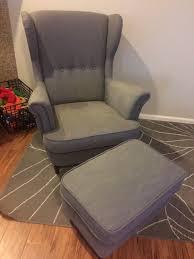 Ikea Strandmon Armchair Ikea Strandmon Wing Chair With Ottoman Furniture In Spanaway Wa