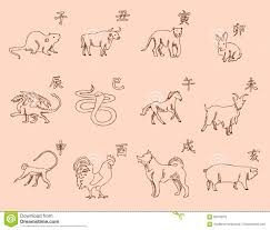 12 animals of the chinese zodiac calendar the symbols of the new