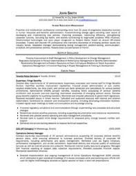 director of human resources resume human resources executive