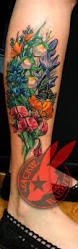 california wildflowers tattoo by jackie rabbit by jackierabbit12