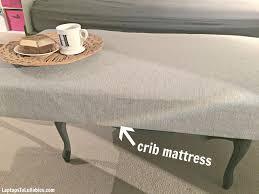 diy crib mattress ottoman u2013 heather u0027s handmade life