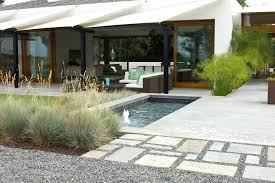 Midcentury Modern Landscaping - bright concrete patios vogue san francisco modern landscape