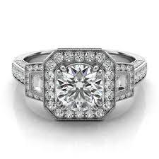 moissanite vintage engagement rings vintage inspired forever one moissanite engagement ring