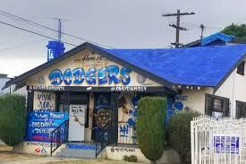 local artist paints dodger house in south la for world series