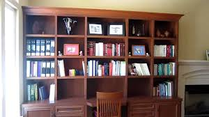 cherry bookcases with desk youtube