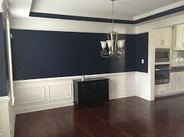 Absolutely Love This Navy Blue Color In Our Dining Room Sherwin - Navy and white dining room