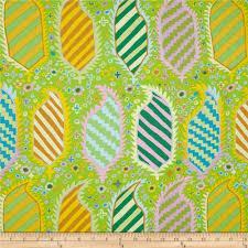 kaffe fassett striped heraldic green discount designer fabric