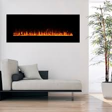 Electric Wallmount Fireplace Northwest Wall Mounted 54 Inch Electric Fireplace With Remote