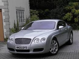 silver bentley used moonbeam silver met with magnolia hide bentley continental gt