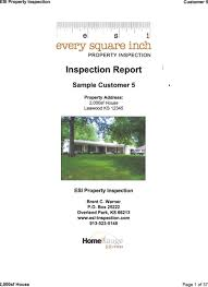 sample house inspection report every square inch property inspection serving the greater kansas
