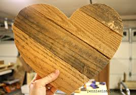 pallet wood hearts step by step tutorial to make in under a hour