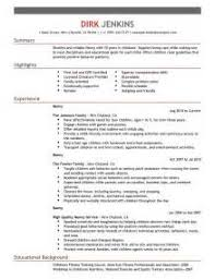 nanny resume templates free now that the summer holidays are