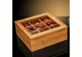 bamboo tea bag storage box 9 compartments yi bamboo bamboo