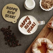 personalised happy new year hot chocolate stencil by