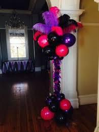 Columns For Party Decorations Burlesque Party Decorations Balloon Columns Pinterest