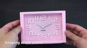 jcc colorful rectangle quartz analog silent desk alarm clock