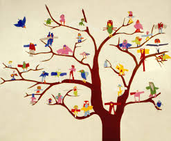 for small cut paper birds in a tree