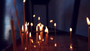burning candles on the birthday cake stock footage video 4028884