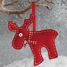 red felt 2014 christmas reindeer ornament christmas tree decor