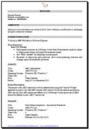 mca resume format for freshers pdf mca fresher resume format doc 1 career pinterest resume
